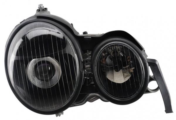 für Mercedes-Benz E-Klasse (W210), klar/schwarz