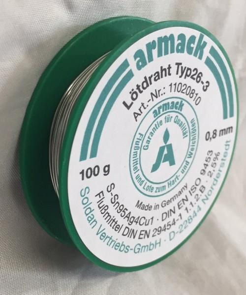 armack Lötdraht Typ26-3 Ø 0,8 mm - 100 g