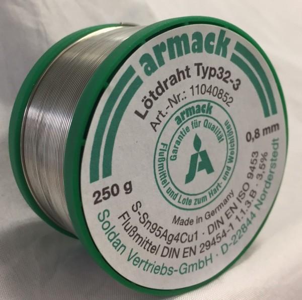 armack Lötdraht Typ32-3 / 0,8 mm - 250 g
