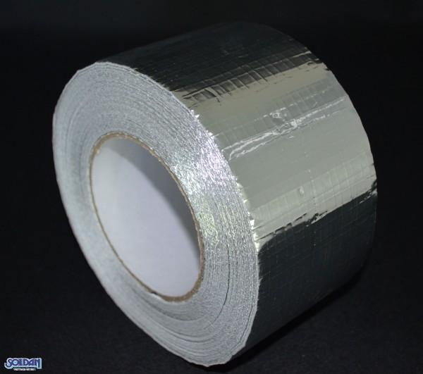 Aluminium Klebeband 45m x 75mm, Gewebe verstärkt