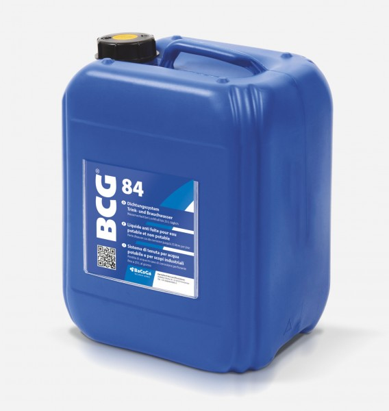 BCG 84 - 5 Liter - Dichtungssystem Trink- und Brauchwasser, Wasserverlust bei Lochfraß bis 25 Liter