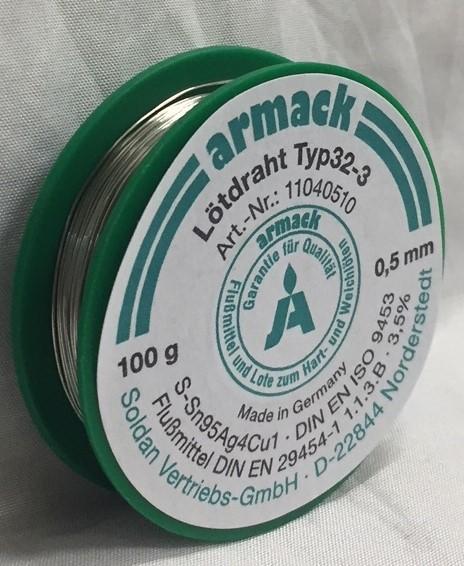 armack Lötdraht Typ32-3 / 0,5 mm - 100 g