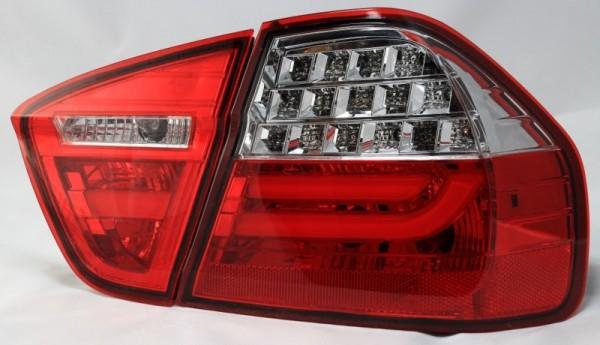 für 3er BMW (E90) Bj. 2005-2008 (nicht 335d) rot/klar