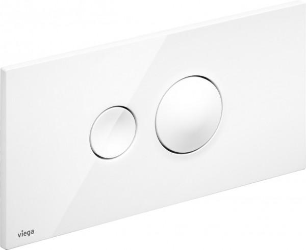 Viega Betätigungsplatte Visign for Style 10 2-Mengen-Spültechnik, weiß-alpin