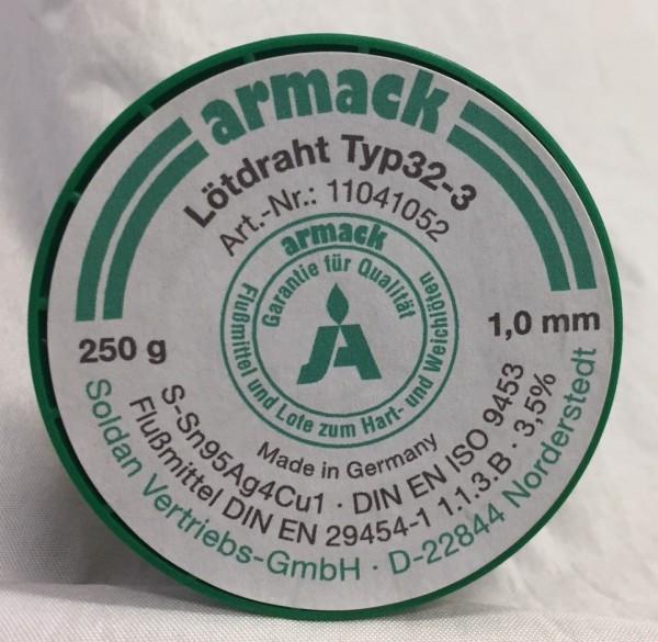 armack Lötdraht Typ32-3 Ø 1,0 mm - 100 g