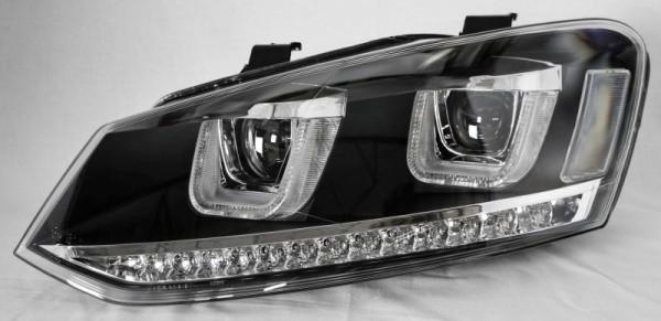 für VW Polo (6R/6C), schwarz m. LED-Blinker (nicht HID)