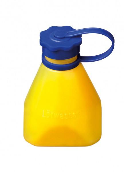 Salzsäureflasche, gelb m. Halteband