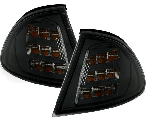 LED-Frontblinker-Set 3er BMW (E46), Limo + Touring, schwarz
