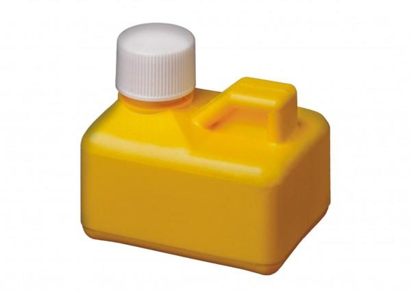 Salzsäureflasche, gelb