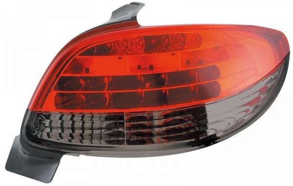 für Peugeot 206, LED, in rot/schwarz