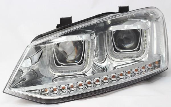 für VW Polo (6R/6C), chrom m. LED-Blinker (nicht HID)