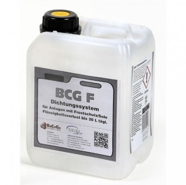 BCG F - 2,5Liter Dichtungssystem für Anlagen mit Frostschutz/Sole, bei Flüssigkeitsverlust bis 20 Li