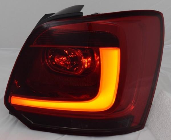 für VW Polo 6R (2V), lightbar, dunkelrot/smoke