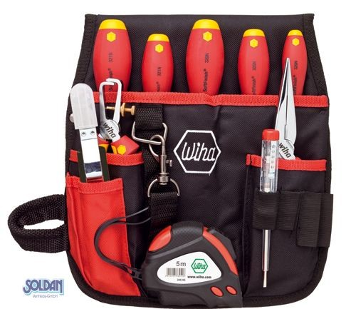 Werkzeug-Set Elektriker-Gürteltasche, 10-tlg