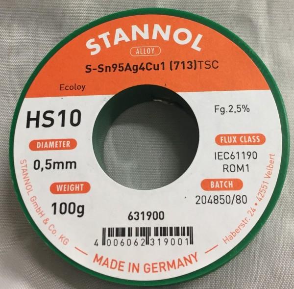 Stannol Lötdraht Ecoloy HS10 Ø 0,5 mm - 100 g