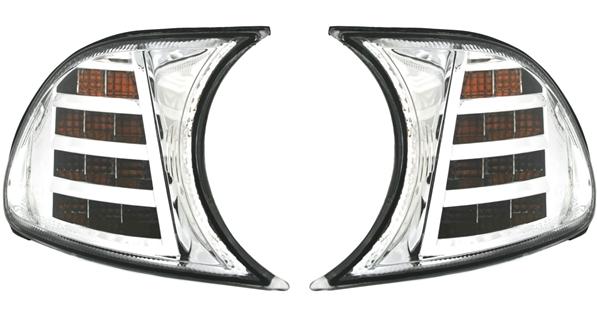 LED-Frontblinker-Set 3er BMW (E46) Coupe/Cabrio, chrom
