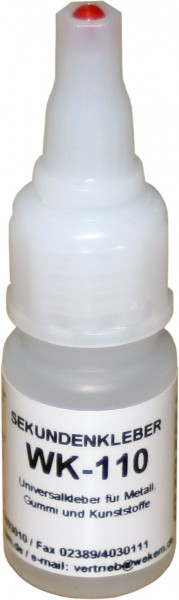 Wekem WK110 Sekundenkleber universal, Flasche 20g