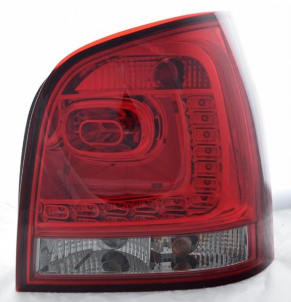 für VW Polo (9N), Bj. 11/2001-03/2005, LED, dunkelrot/smoke