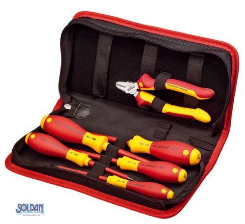 Elektriker Werkzeugtasche, 6-tlg, VDE Schutzisolation