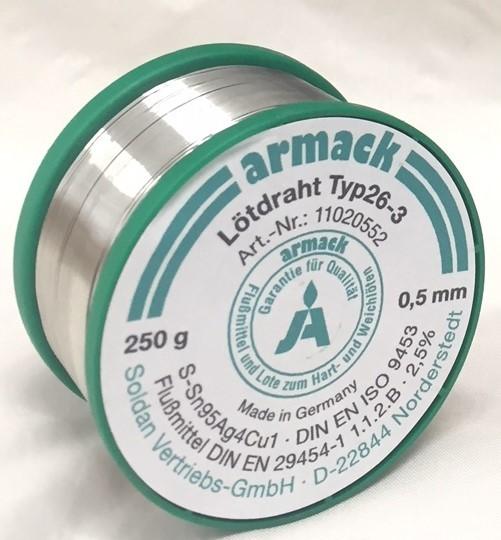 armack Lötdraht Typ26-3 Ø 0,5 mm - 250 g