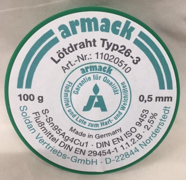 armack Lötdraht Typ26-3 Ø 0,5 mm - 100 g