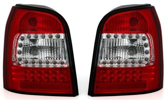 LED Rückleuchten-Set Audi A4 Avant (B5) 01/1996-06/2001), rot/klar