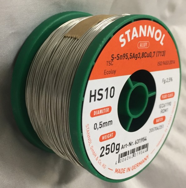 Stannol Lötdraht Ecoloy HS10 Ø 0,5 mm - 250 g