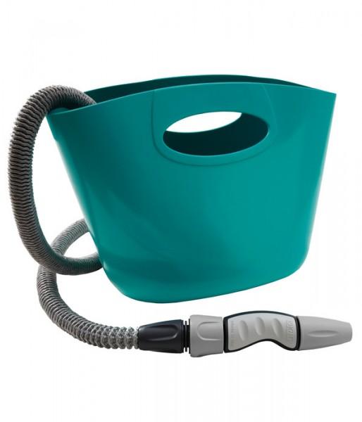 Gartenschlauch mit Verstautasche - Aquapop aquamarin